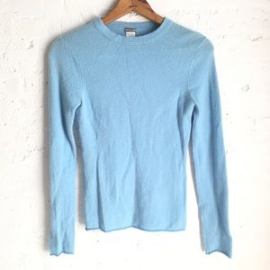 J. Crew cashmere sweater in baby blue